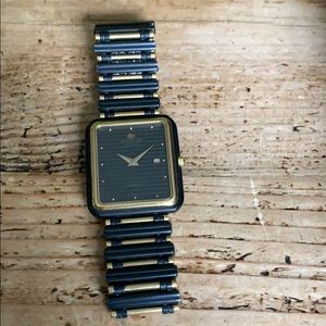 Raymond Weil black and gold Watch
